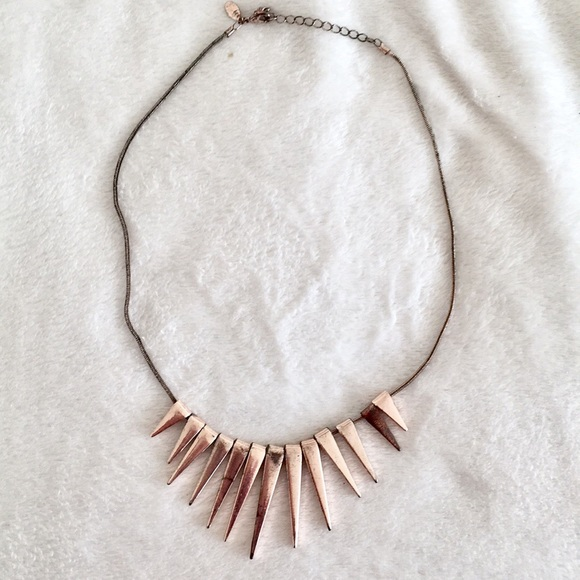 65 off Express Jewelry Express Rose Gold Spiked Necklace from